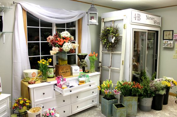 I ek i d kkan dekorasyonu ve dizayn en karl for Flower shop design layouts